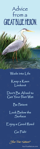 Advice from a Great Blue Heron Laminated Bookmark