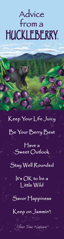 Advice from a Huckleberry Laminated Bookmark