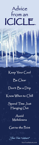 Advice from an Icicle Laminated Bookmark