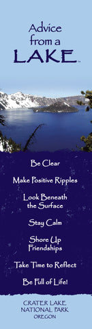 Advice from a Lake - Crater Lake National Park - Laminated Bookmark