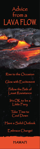 Advice from a Lava Flow Laminated Bookmark