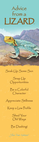 Advice from a Lizard Laminated Bookmark