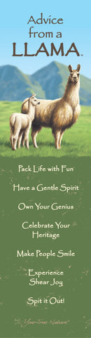 Advice from a Llama Laminated Bookmark