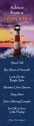Advice from a Lighthouse Laminated Bookmark