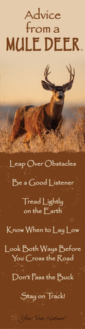 Advice from a Mule Deer Laminated Bookmark