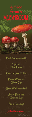 Advice from a Mushroom Laminated Bookmark