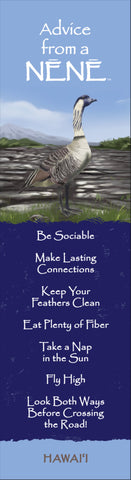 Advice from a Nēnē- Hawai'i- Laminated Bookmark
