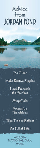 Advice from Jordan Pond - Laminated Bookmark