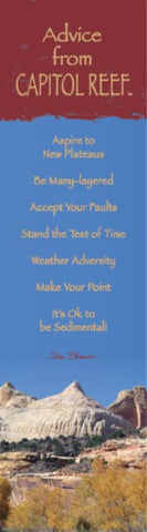 Advice from Capitol Reef- Laminated Bookmark