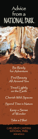 Advice from a National Park- Carlsbad Caverns- Laminated Bookmark