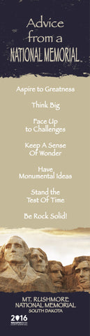 Advice from a National Memorial- Mt. Rushmore - Laminated Bookmark