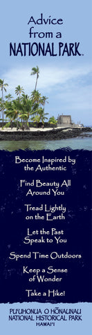 Advice from a National Park- Pu'uhonua O Honaunau National Historical Park- Laminated Bookmark