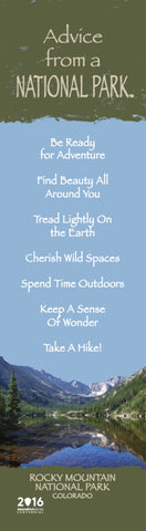 Advice from a National Park- Rocky Mountain National Park- Laminated Bookmark