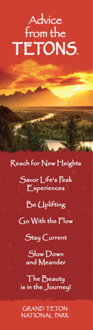 Advice from the Tetons - Laminated Bookmark