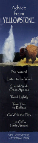 Advice from Yellowstone - Laminated Bookmark
