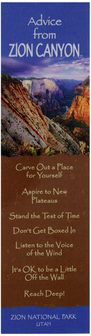 Advice from Zion Canyon - Laminated Bookmark