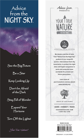 Advice from the Night Sky Laminated Bookmark