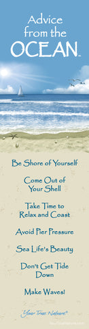 Advice from the Ocean Laminated Bookmark