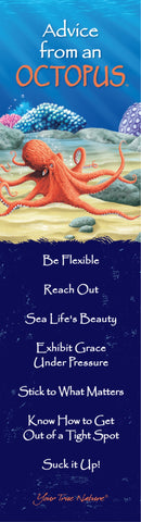 Advice from an Octopus Laminated Bookmark