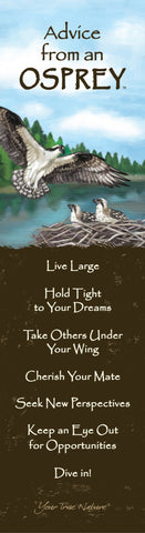 Advice from an Osprey Laminated Bookmark