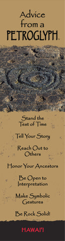 Advice from a Petroglyph- Hawai'i- Laminated Bookmark