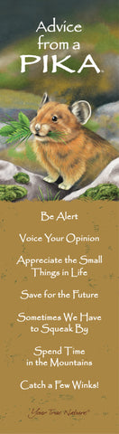 Advice from a Pika Laminated Bookmark