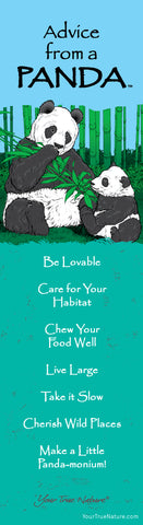 Advice from a Panda- Wild Series- Laminated Bookmark