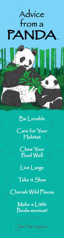 Advice from a Panda- Laminated Bookmark
