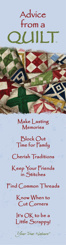 Advice from a Quilt Laminated Bookmark