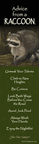Advice from a Raccoon Laminated Bookmark