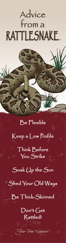 Advice from a Rattlesnake Laminated Bookmark