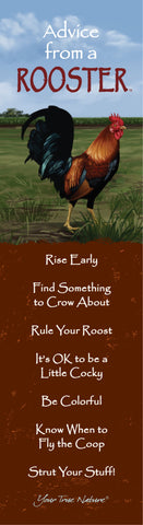 Advice from a Rooster Laminated Bookmark