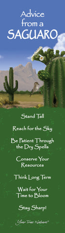 Advice from a Saguaro - Laminated Bookmark