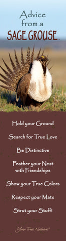 Advice from a Sage Grouse Laminated Bookmark