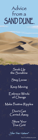 Advice from a Sand Dune Laminated Bookmark