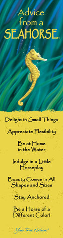 Advice from a Seahorse Laminated Bookmark