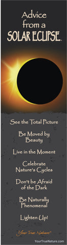 Advice from a Solar Eclipse Laminated Bookmark