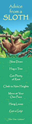 Advice from a Sloth Laminated Bookmark