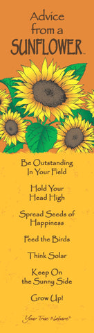 Advice from a Sunflower Laminated Bookmark