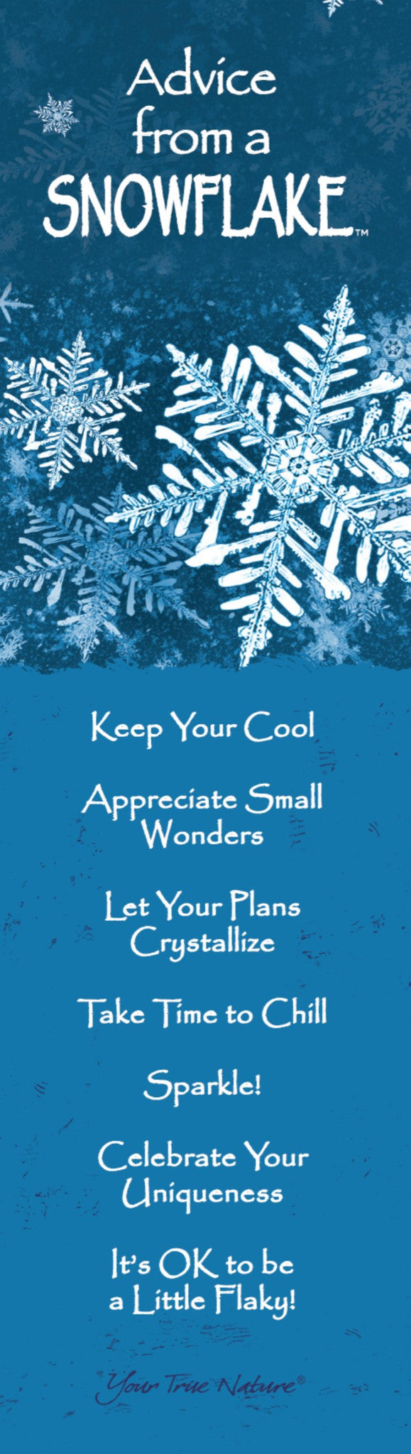 advice from a snowflake hanging wood sign u2013 your true nature inc