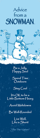 Advice from a Snowman Laminated Bookmark