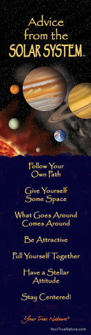 Advice from the Solar System Laminated Bookmark