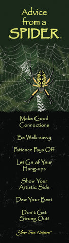 Advice from a Spider Laminated Bookmark