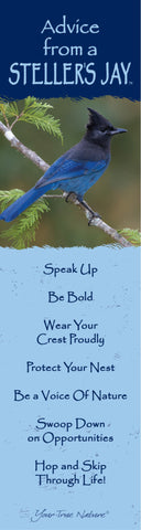 Advice from a Steller's Jay Laminated Bookmark