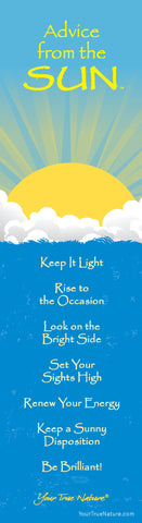 Advice from the Sun Laminated Bookmark