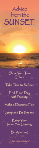 Advice from the Sunset- Beach- Laminated Bookmark