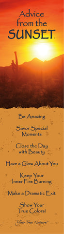 Advice from the Sunset- Southwest- Laminated Bookmark