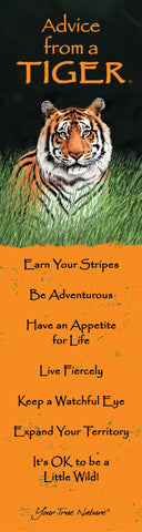Advice from a Tiger Laminated Bookmark