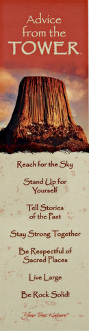 Advice from the Tower - Devils Tower - Laminated Bookmark
