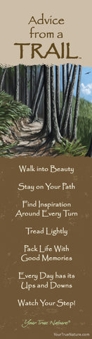 Advice from a Trail Laminated Bookmark